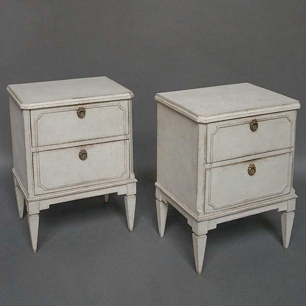 Pair of two-drawer Swedish night stands