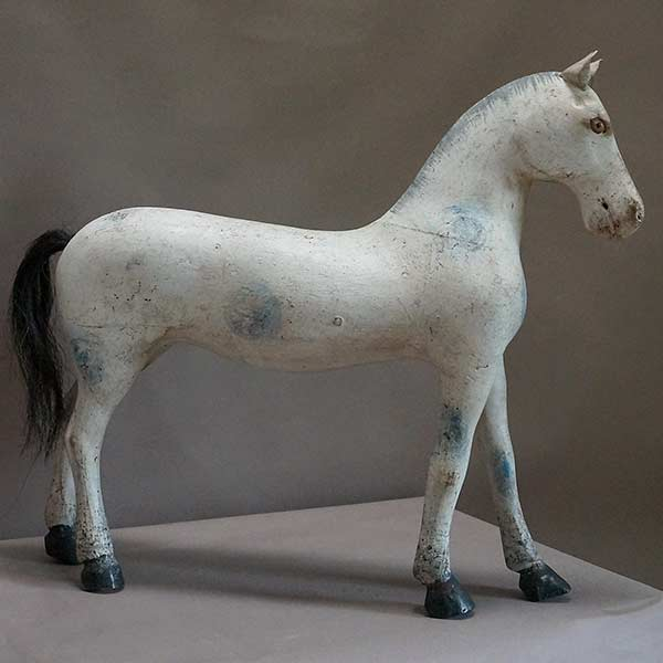 Swedish carve horse with blue spots