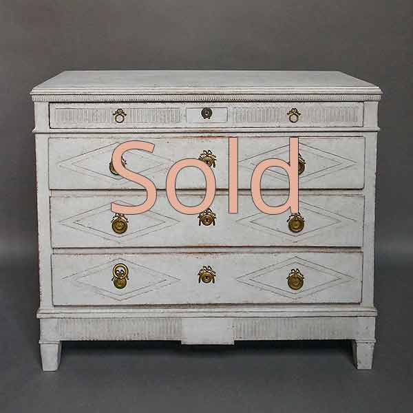 Late Gustavian Style Four Drawer Chest