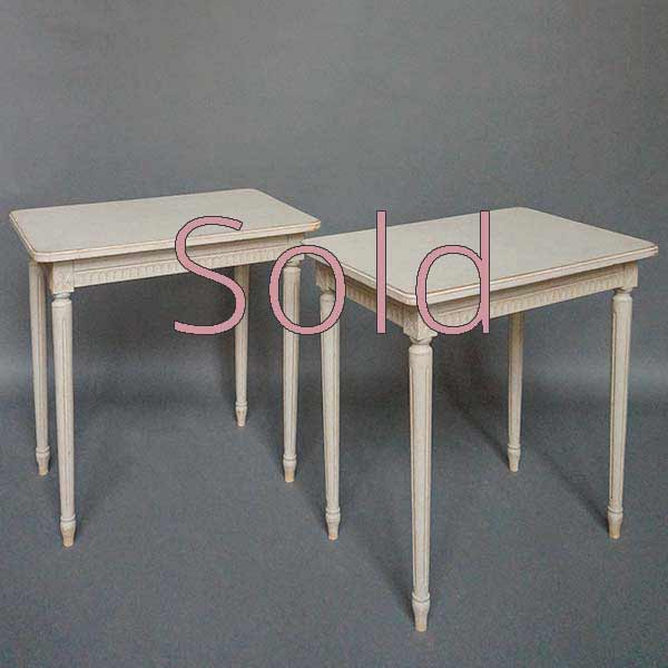 Pair of Simple Gustavian Style Side Tables