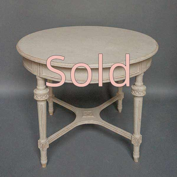 Neoclassical Style Round Table