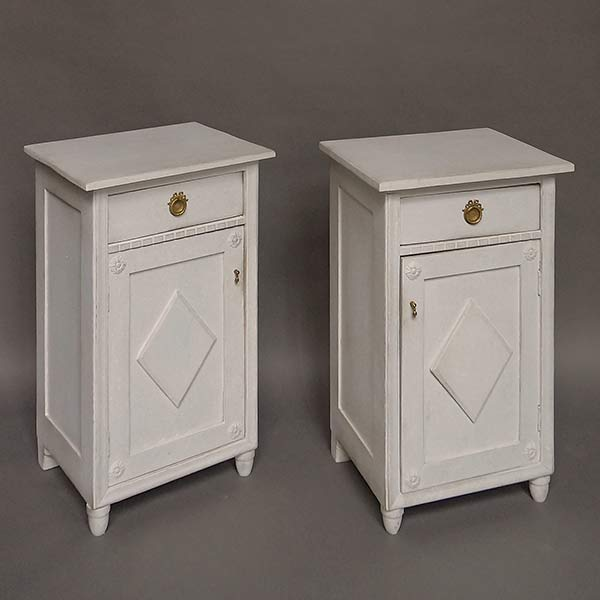 Pair of antique Swedish nightstands