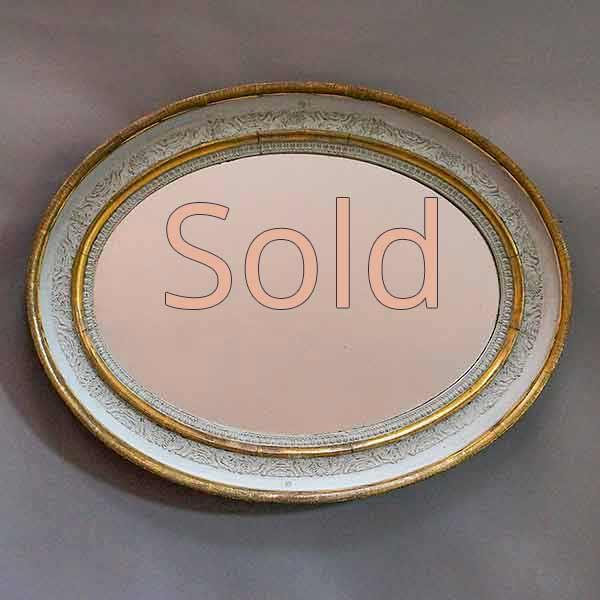 Oval Swedish Empire Mirror