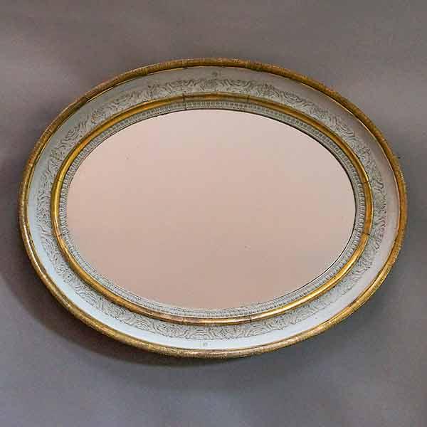 Antique oval Swedish empire mirror