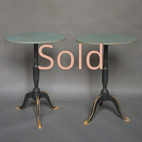 Pair of Antique Swedish Pedestal Tables