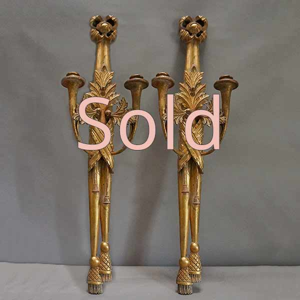 Pair of Empire Candle Sconces