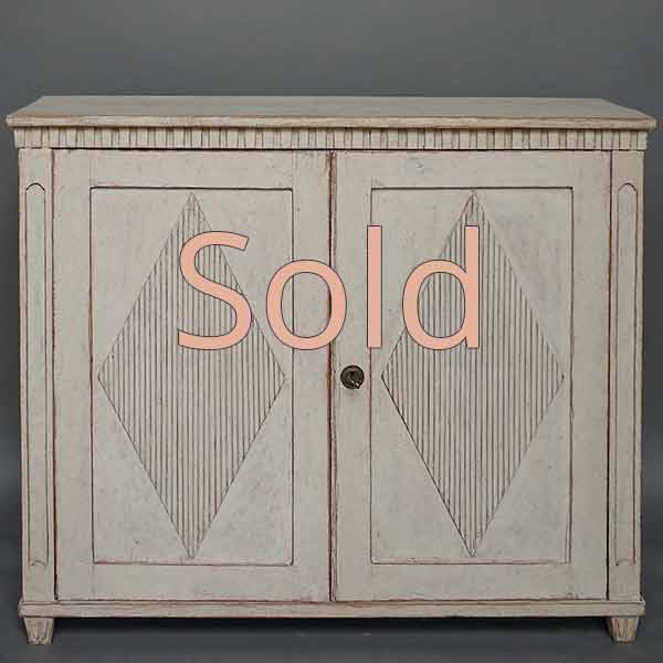 Period Two Door Gustavian Sideboard