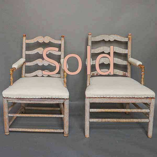 Pair of period Swedish Gripsholm amchairs