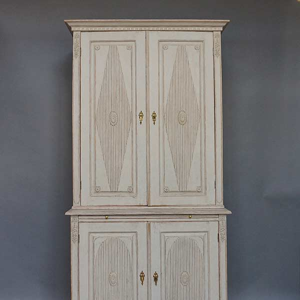 Gustavian style two-part cabinet