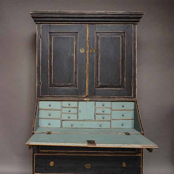 Period Swedish slant front secretary