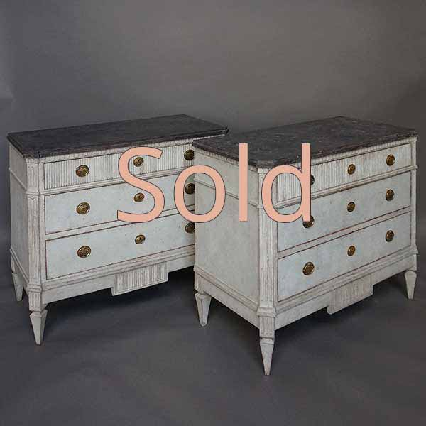 Pair of Swedish Chest of Drawers