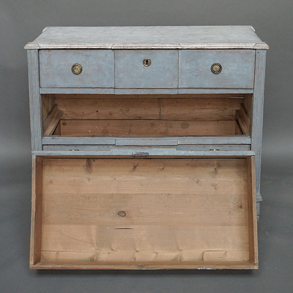 Antique Swedish Neoclassical Commode with Faux Marble Top : 63 12 Pale blue chest of drawers 8 1 from cupboardsandroses.com size 600 x 600 jpeg 147kB
