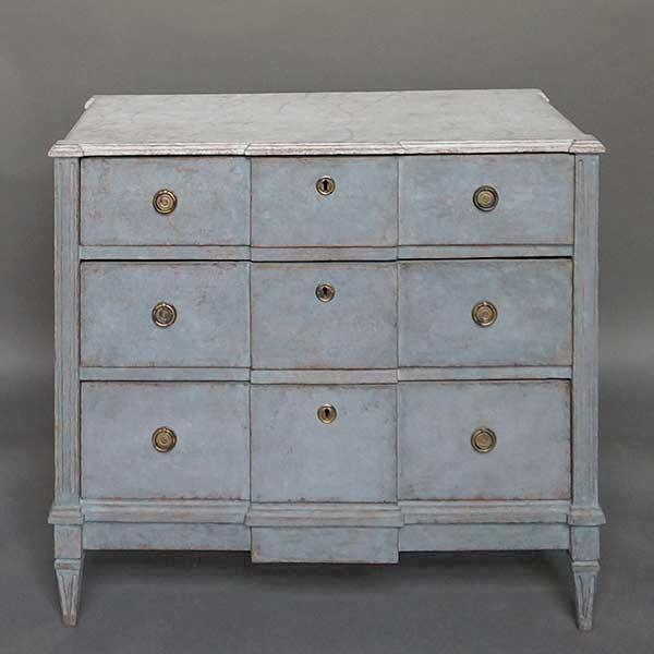 Neoclassical Commode with Faux Marble Top