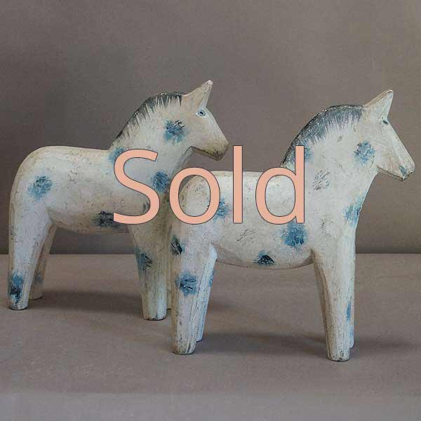 Pair of Antique Swedish Dararna Horses