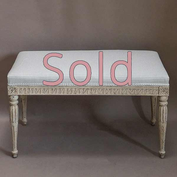 Later Swedish Bench in the Gustavian Style