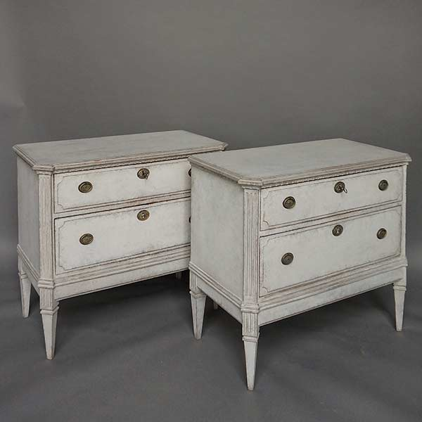Pair of Swedish Empire Chests of Drawers