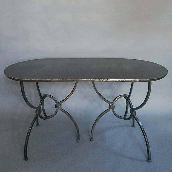 Hand-wrought Sundial Dining Table