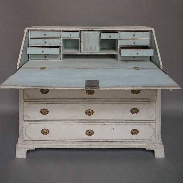 Antique Swedish empire writing desk
