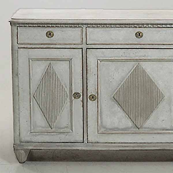 Gustavian style three door sideboard