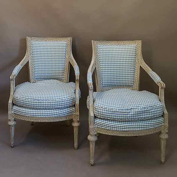 Gustavian style fauteuils