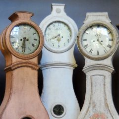 Mora clocks at Cupboards & Roses