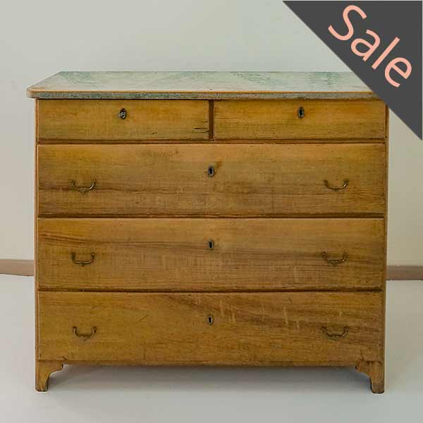 Swedish grain painted chest of drawers