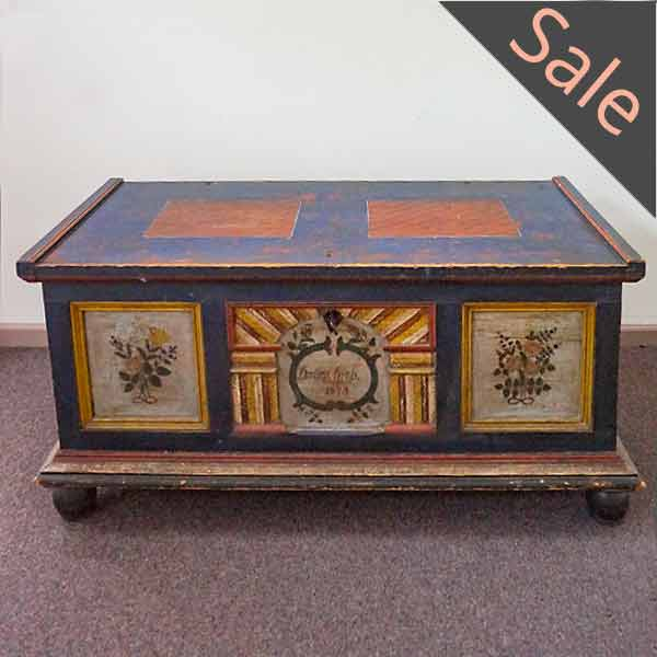 Wedding chest dated 1875