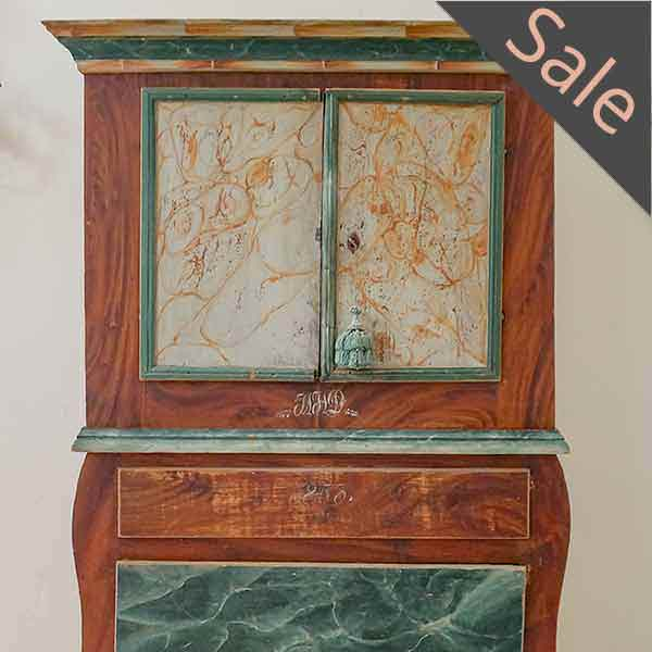 Swedish Paint Decorated Cabinet