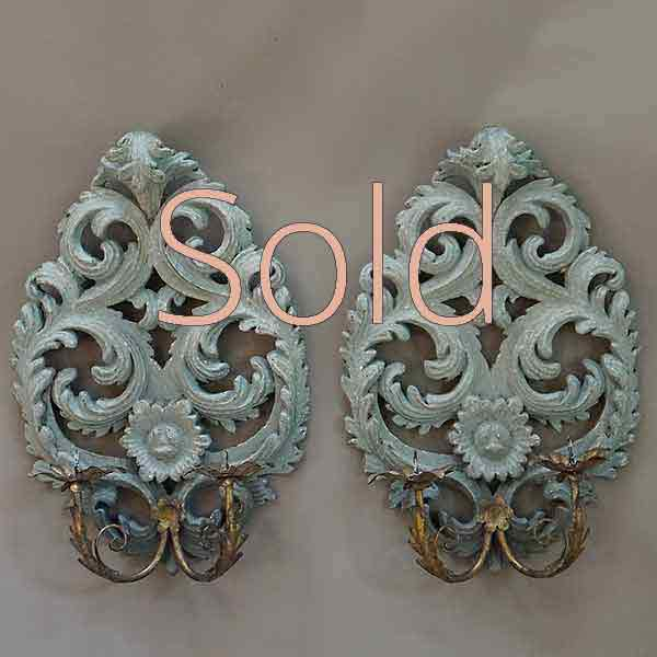 Pair of Italian Candle Sconces