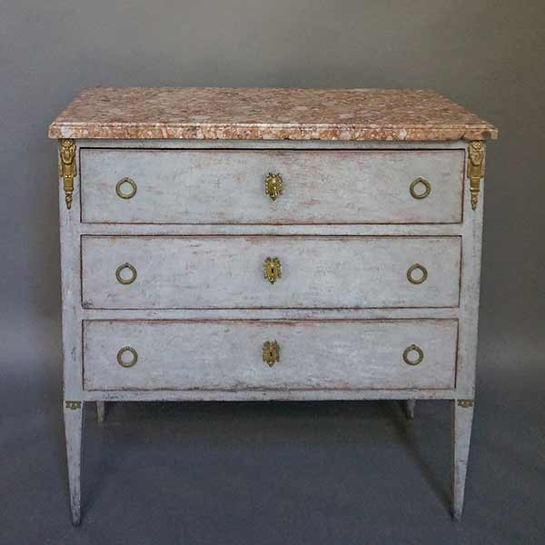 Swedish chest of drawers with original marble top