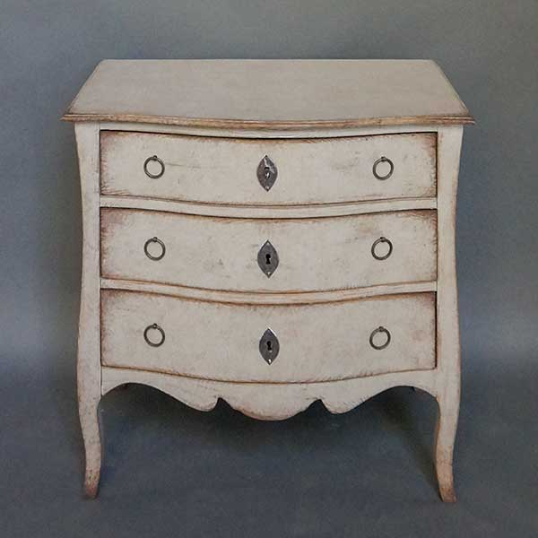 Three Drawer Swedish Commode