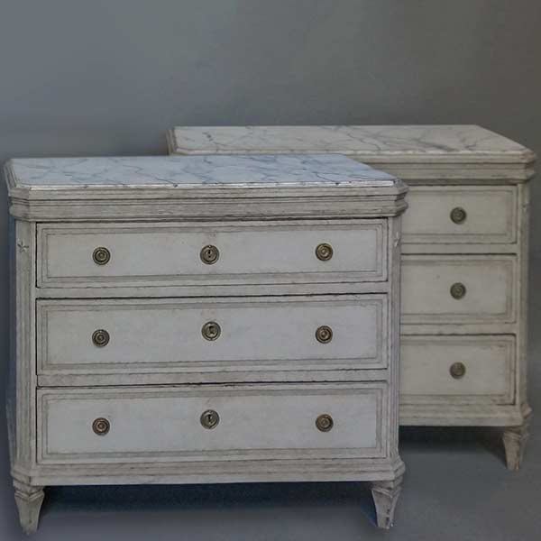 Pair of Gustavian style commodes