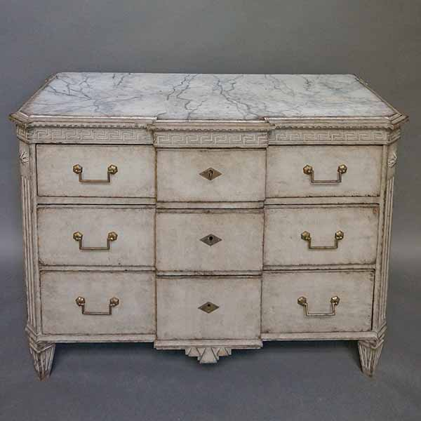 Swedish Breakfront Chest of Drawers