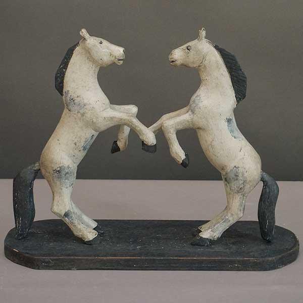 Swedish pair of dancing horses