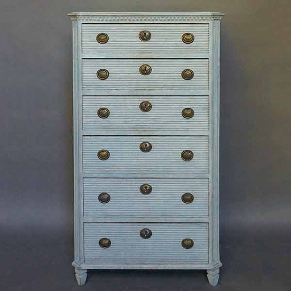 Gustavian Style Six-Drawer Chest