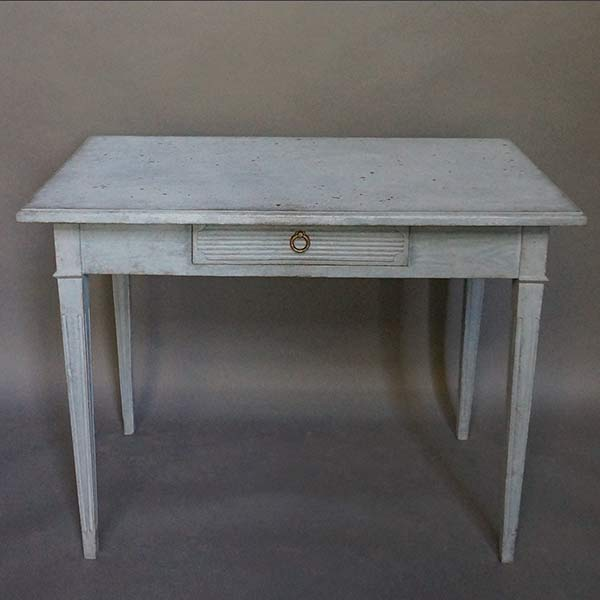 Swedish Side Table with Drawer