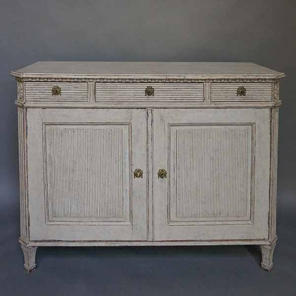 Gustavian style sideboard with reeding
