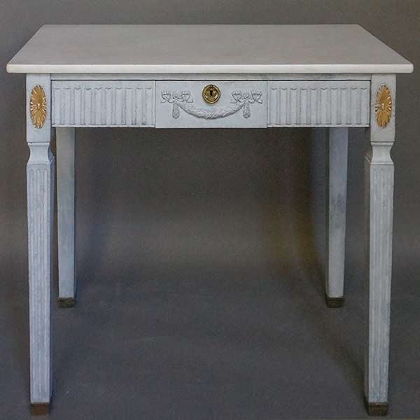 Marble Topped Swedish Table