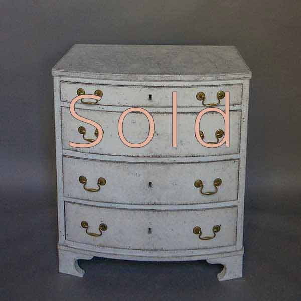 Bow front Commode with Four Drawers
