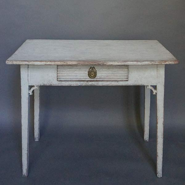 Swedish Side Table with Apron Drawer