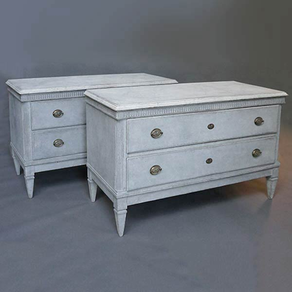 Pair of Swedish Neoclassical Chests of Drawers