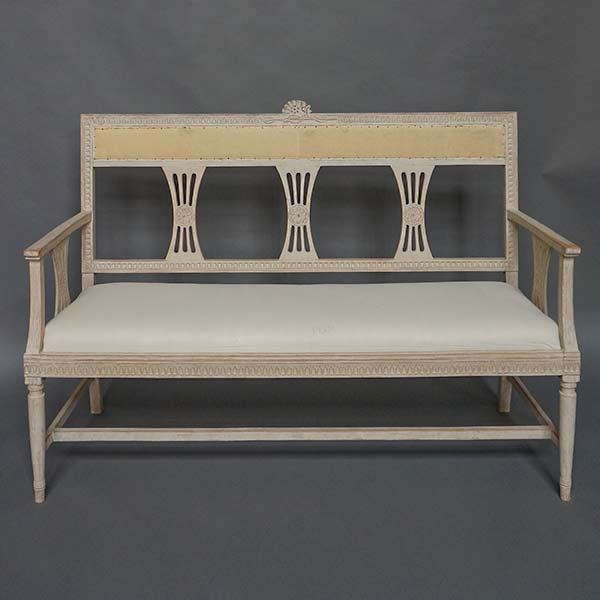 Gustavian style settee & Seating | Cupboards u0026 Roses Swedish Antiques