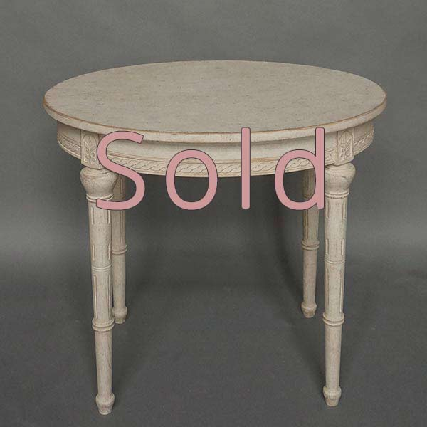 Oval Side Table in the Gustavian Style