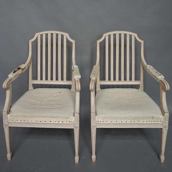 Pair of Swedish Open Armchairs