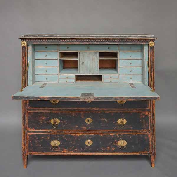 Period Gustavian Fall-Front Secretaire