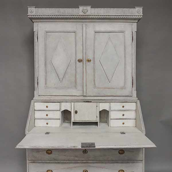 Period Neoclassical Secretaire Cum Library