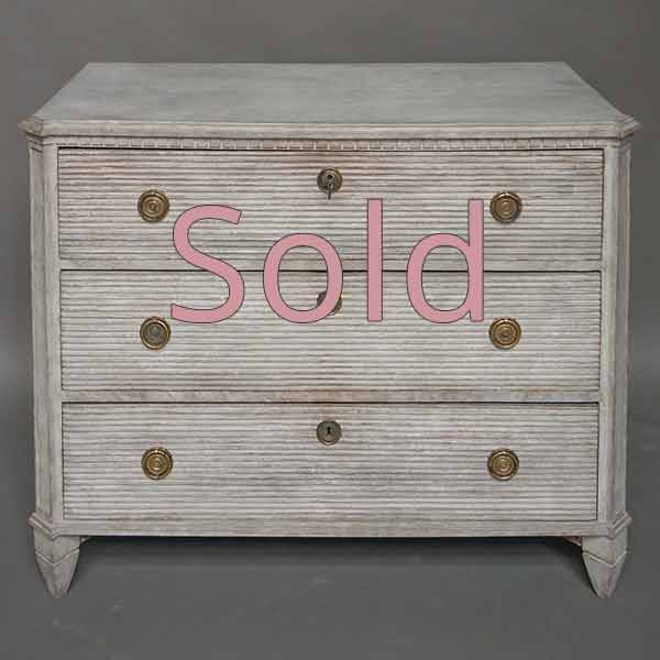 Gustavian Style Three-Drawer Chest