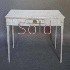 Neoclassical Fluted Side Table