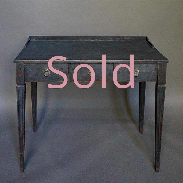 Small Writing Desk in Black Paint