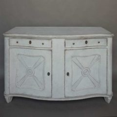 Swedish Bow-front sideboard
